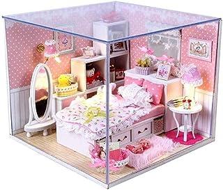 XYZMDJ Miniatyr dockhus, dockhus miniatyr gör-det-själv, för födelsedag