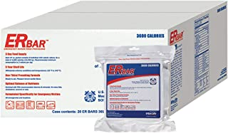 ER Emergency Ration 3600 Calorie Food Bar for Survival Kits and Disaster Preparedness, Case of 20, 1BC