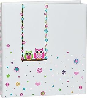 Elefantasie Baby Album Erinnerungsbuch mit Namen und Geburtsdatum personalisiert pink