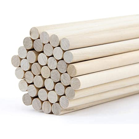10 pcs 5//8 Dia Birch Hardwood Dowel Rods 12 Inches 15.87 x 300mm Long Imper...