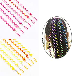 ThEast 12PCS Girls Hair Styling Twister Clip Women Hair Braider DIY Tool Accessories (C)