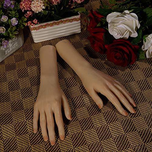 Simulatie hand mannequin pols vingerpositionering silicone namaakmodel voor medisch schilderij leer kunstschetsen nagel klok sieradendisplay Onepair
