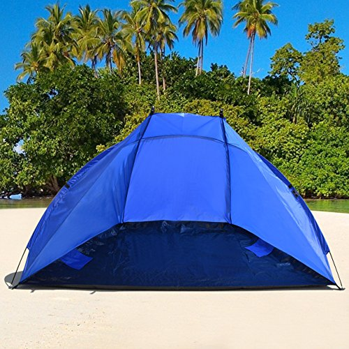 Strong Camel Portable 2 to 3 Person Beach Shelter Sun Shade Canopy Camping Fishing Beach Tent