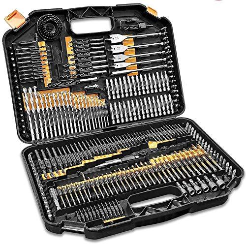 Drill Bit SetsDrill Bit Fixed Cone Screwdriver Storage Box DIY Wood Metal -246PCS Drill Accessories for DIY Plastic