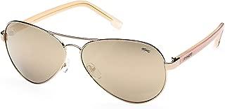 Lacoste Aviator Women's Sunglasses Gold L163S 62 13 140mm