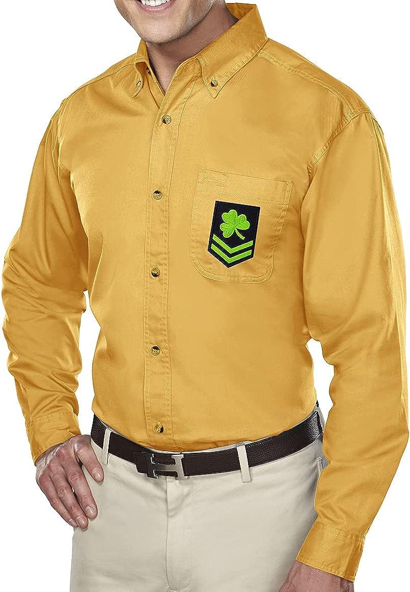 Buy Cool Shirts Irish Military Patch Dress Shirt with Pocket - Regular, Big and Tall Sizes