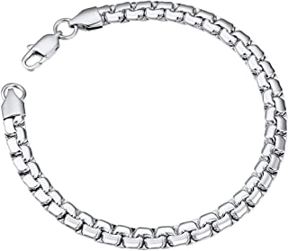 ChainsPro Stainless Steel Link Bracelet Wrist Chain Men 6mm 20 cm