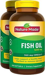 Nature Made 2 X 200Pk Fish Oil 1200 Mg Softgels Omega 3