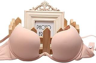 (ビグッド)Bigood ノンワイヤー ブラ 美乳ブラ レディース ブラジャー バストアップブラ シンプル 無地 盛りブラ ランジェリー インナー アンダーウェア 肌色 34