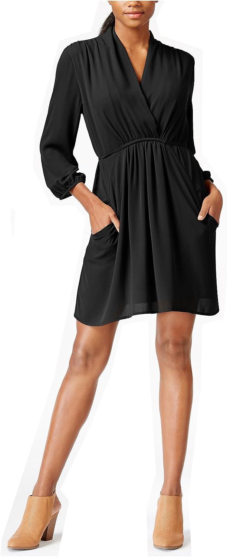 Bar III Women's ThreeQuarterSleeve SurpliceNeck Dress