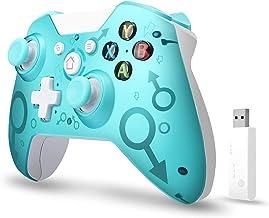 xuelili Controles sem fio para Xbox One, joystick de PC sem fio com adaptador sem fio de 2,4 GHz, compatível com Xbox One...
