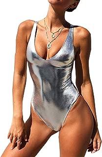shiny metallic swimsuit