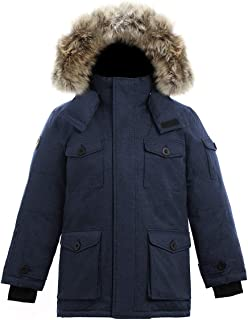 Triple F.A.T. Goose SAGA Collection | Eldridge Boys Hooded Goose Down Jacket Parka with Real Coyote Fur