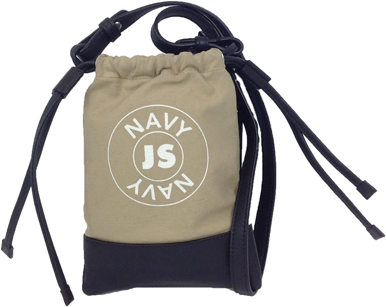 Jil Sander NAVY Small Pouch Bag, Natural Black