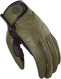 Royal Enfield Olive and Black Leather Riding Gloves for Men (RRGGLH000048)