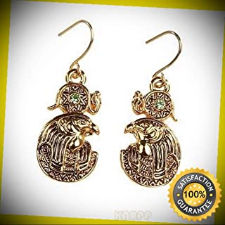 KARPP MYSTICA Fashion Egyptian Horus RA Falcon Earrings Pewter Alloy Perfect Indoor Collectible Figurines