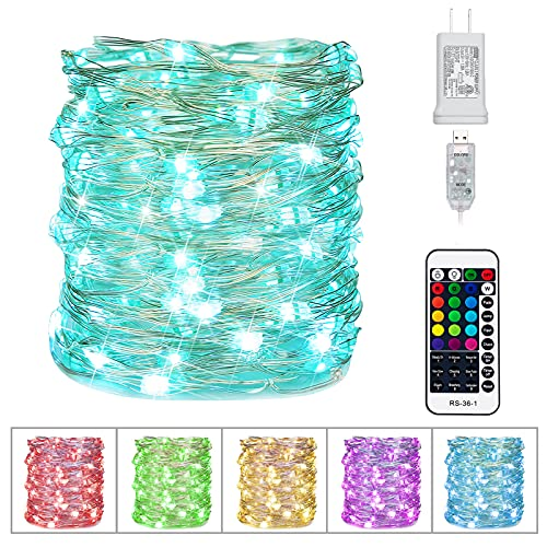 Color Changing Fairy String Lights 33 Feet 100 Led Twinkle...