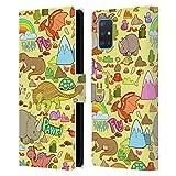 Head Case Designs ¡Rawr! Patrones prehistóricos Carcasa de Cuero Tipo Libro Compatible con Samsung Galaxy A51 (2019)