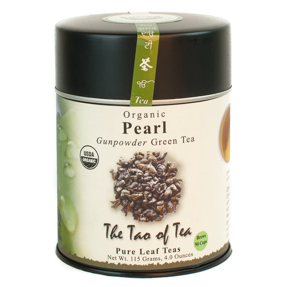 The Tao of Tea Pearl Green Tin Loose Some reservation Popular Leaf Ounce 4.0