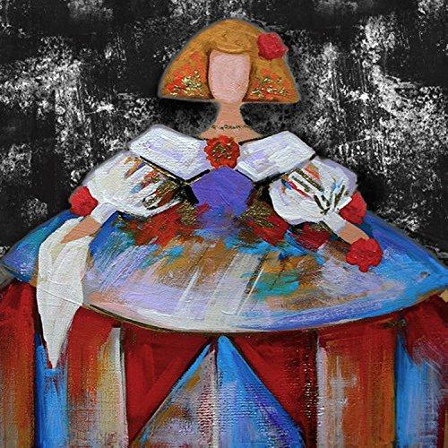 Cuadros de Meninas Modernas Impresión Calidad en Lienzo Decoración de Paredes (50 x 50 cm)