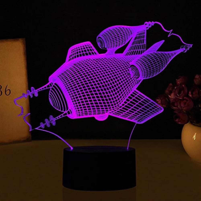 Fdlzz Led nachtlicht 3D Lampe 7 Farben Fernbedienung Touch Schalter Auto tischlampe Wohnzimmer Lichter Kinder Geschenk Spielzeug,Remote und Touch