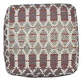THEKO clásico hecho a mano de color rojo alfombra Diseñador variaciones de tamaño 65 x 135 cm