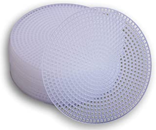 Plastic Canvas Circle - 4.5 Inch Diameter - 30 Pack