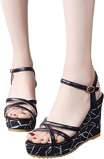 3e940101d30be Amazon.com: Fashion Shoes Women Spring Summer Fish Mouth Shoes High ...