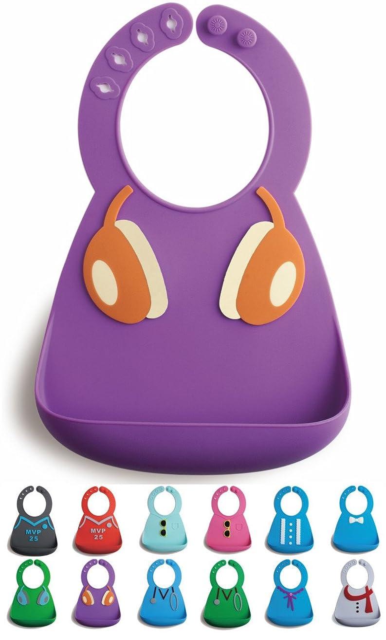 Bibiroo Silicone Baby Bibs, BPA/PVC/Phthalate Free, Food Catch Pocket, Waterproof, Soft, Adjustable, Lightweight