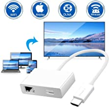 DIWUER Adaptador De Pantalla Inalámbrico 4k,Miracast Dongle Wireless Wifi Display Receiver Para Android /iOS / PC / TV / Monitor / Proyector, Admite Miracast, DlNA y Airplay