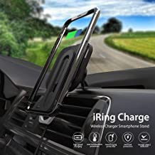 AAUXX iRing Slide Wireless Car Charge, 10W Fast Charging Car Phone Mount, Air Vent Holder, Compatible for iPhone 11, 11Pro, X, Xs, and 8, Galaxy S20, S10, S9, S8 and Other Android Smartphone.