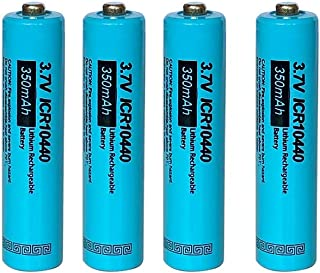 4pcs AAA ICR 10440 Rechargeable Lithium Ion Battery,3.7v 350mah