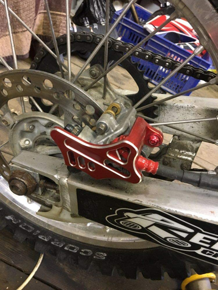 CRF450RX 2017. CRF450X 2005-2017 CRF250R CRF250X 2004-2017 CRF450R 2002-2017 FXCNC Racing Dirt Bike CNC Rear Brake Disc Caliper Guard Protection for Honda CR125 CR250 2002-2008