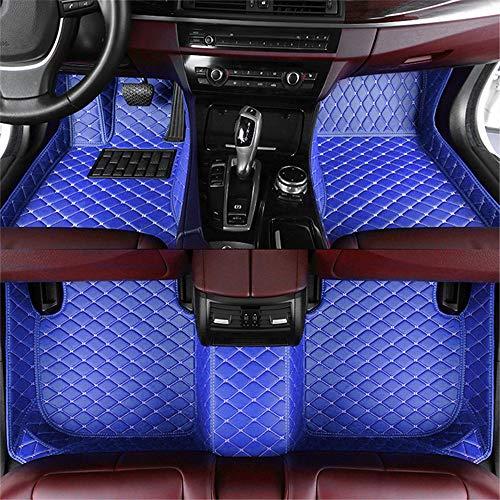 jialaiwo Alfombrillas Coches para Peugeot 207 2019-2021 Alfombrilla Impermeables para Todo Clima Accesorios Interiores Alfombras Azul