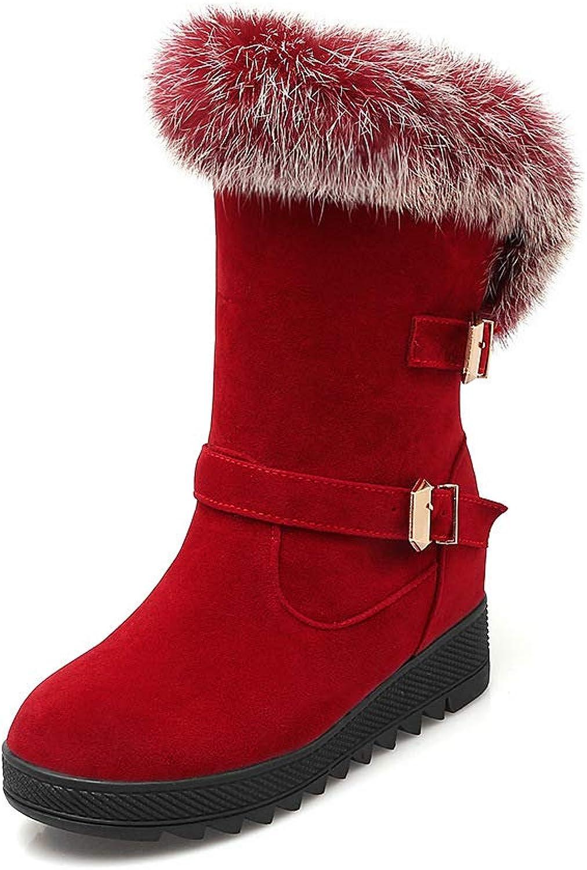 QINGMM Frauen Mode Wildleder Schnee Stiefel 2018 Winter Casual Flache Baumwolle Stiefel Große Größe,rot,42 EU B07JLGJ2Y7  Ausreichende Versorgung