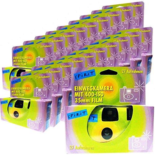 20 x Spirit PHOTO PORST monouso per macchina fotografica fotocamera di altezza tempo festa fotocamera (da 27 foto, con flash e batterie)