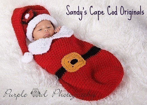 Little Santa Crochet Pattern Cocoon and Hat