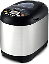 Bread Maker, ROZMOZ 19-in-1 Stainless Steel Bread Machine, 2 LB Programmable Bread Maker Machine, Non-stick Ceramic Pot, Gluten-free Setting, Reserve & Keep Warm Set, and 3 Rotating Blades