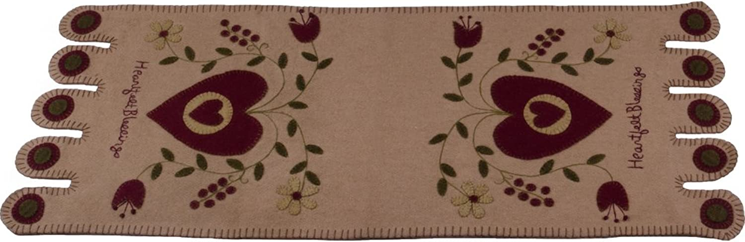 Home Collections by Raghu 14x36 Heartfelt Blessings Nutmeg Table Runner