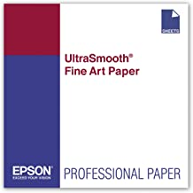 Epson UltraSmooth Fine Art Paper, 17 x 22 Inch, 25 sheets (S041897)