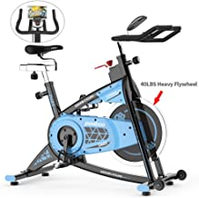pooboo Exercise Bikes Stationary, Belt Driven Indoor Cycling Bike with 40LBS Flywheel,LCD Display& Ipad Mount for Cardio Workout