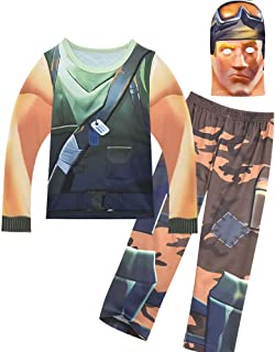 Boys' Soldier Pajamas Kids' Cosplay Costume with Mask for Party Halloween Christmas