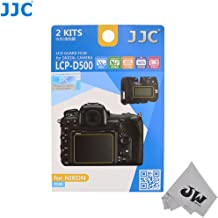 JW LCP-D500 2 Kits Low Reflection Anti-smudge High Transmission Perfect Cutting LCD Guard Film Display Screen Protector For Nikon D500 + JW emall Micro Fiber Cleaning Cloth