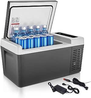 F40C4TMP Portable Refrigerator Car Fridge(-7.6℉~131℉) Freezer,Mini Fridge 18L(20 Quart) with DC 12V/24V and AC,Electric Car Cooler/Warmer for RV, Truck,Camping Trip and Home