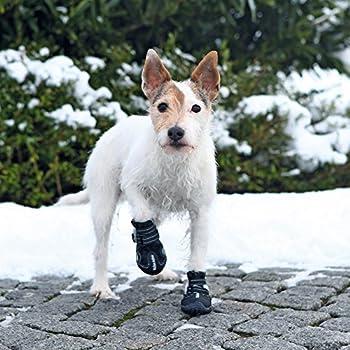 Trixie Bottes de Protection pour Chien Walker Active - Noir - M - Taille 4