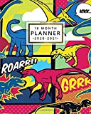 18 Month Planner 2020-2021: Awesome Roaring Dinosaur Weekly & Daily Organizer with Monthly Spread Views - Planner & Agenda with Notes, Inspirational Quotes & Vision Boards (January 2020 - July 2021)