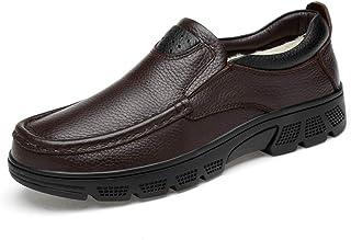CAIFENG Moda para Hombre Oxford Casual Classic Low Top Cómodo Cómodo Tamaño Grande Formal Zapatos Formales (Velvet Cálido ...
