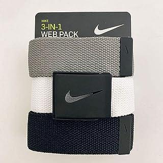 Men's 3 Pack Web Belt, Matte Black Hardware,...