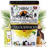 Nabür - Cera de carnaúba 200 G   Calidad alimentaria alternativa vegana a la cera de abejas cosmética DIY, pintalabios, cremas, desodorantes, fabricación   envasado en Francia