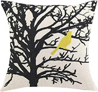 ChezMax Square Cartoon Animal Printed Cushion Cover Cotton Throw Pillow Case Sham Slipover Pillowslip Pillowcase For Decor Decorative Lounge Saloon